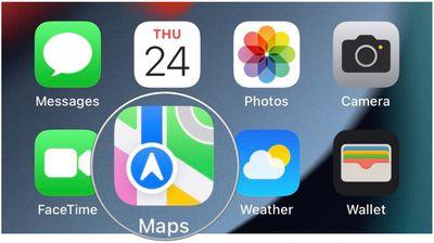 apple maps icon ios 15 beta 2