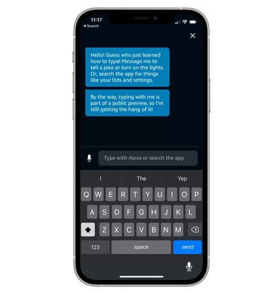 Amazon iOS Users Can Now Text Alexa Questions and Requests