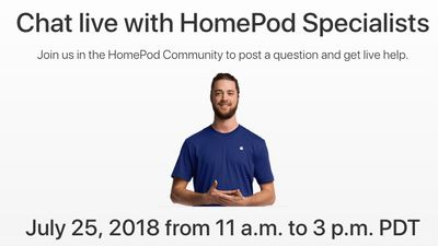 homepod event support communities