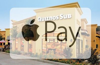 quiznos apple pay