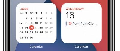 De manera molesta para muchosusuariosde iOS 14, el widget Calendario cuadrado solo muestra el día actual y cualquier evento, en lugar del mes calendario completo, que solo se puede mostrar en el widget 2x4 más grande.