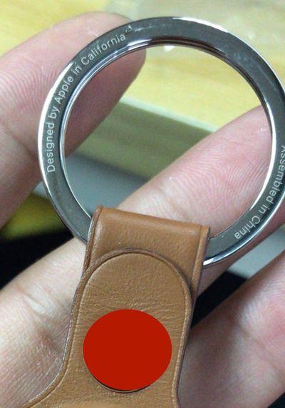 alleged apple airtag keychain accessory