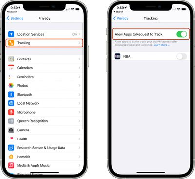 app tracking transparency disable