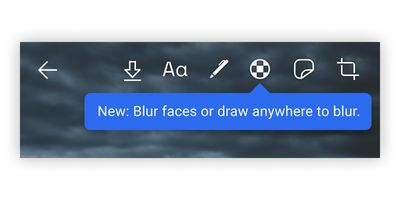 blur toolbar signal