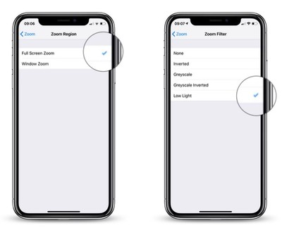 how to reduce screen brightness further in iOS 4