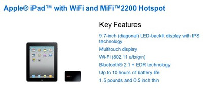 145938 verizon ipad mifi package