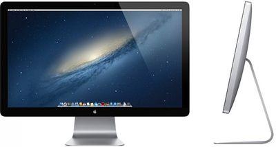 apple thunderbolt display front side