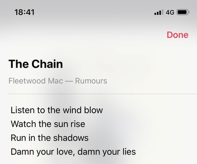 how to see song lyrics in apple music