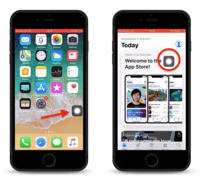 how to use assistive touch as a virtual home button