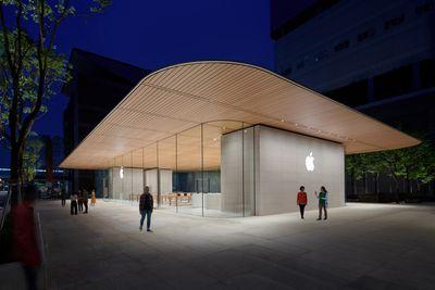 new apple store taipei exterior 061219