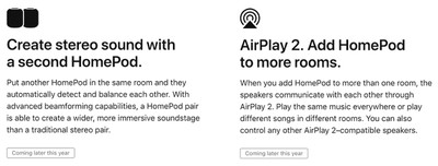 homepod airplay 2 stereo
