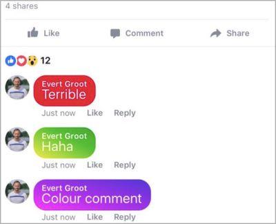 facebook color comments 2