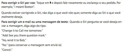 siri brazil instructions iphone 4s