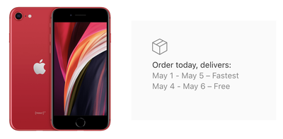 iphone se delivery