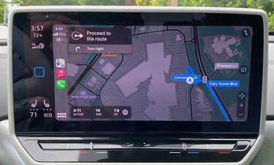 2021 vw id4 carplay apple maps