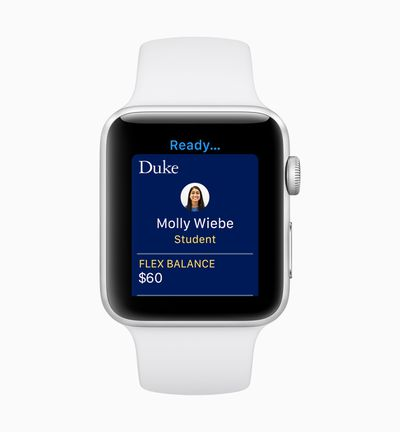 Apple watchOS 5 Student ID screen 06042018