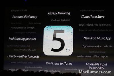 ios 5 features
