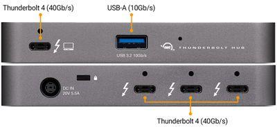 owc thunderbolt hub interfaces
