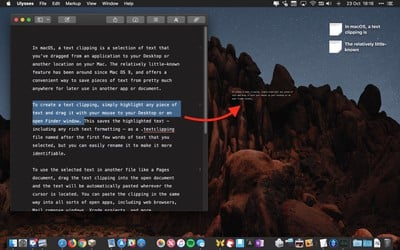 how to use text clippings mac 1