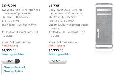 mac pro share options