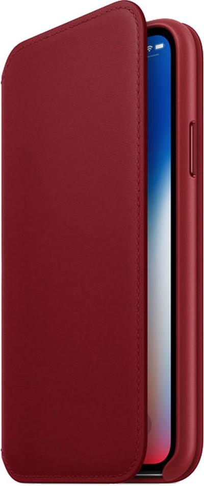product red iphone x leather folio