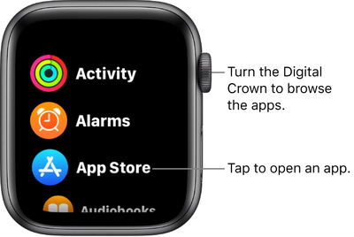 list view apple watch