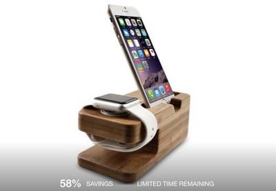 woodenapplewatchchargingdock