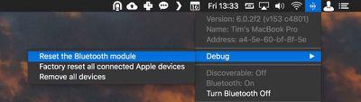macos reset Bluetooth module