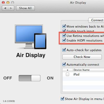 air display retina hidpi settings