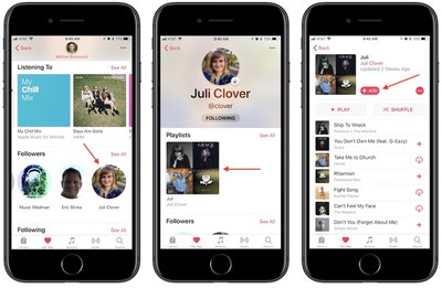 how to apple music friends 3