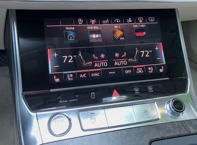 audi a7 lower display