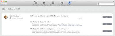 mountain lion software update mac app store