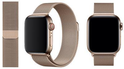 apple watch s4 gold milanese loop