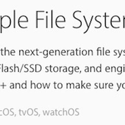 macOS Sierra Apple File System