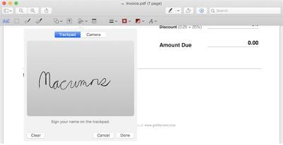 macrumors pdf signature mojave