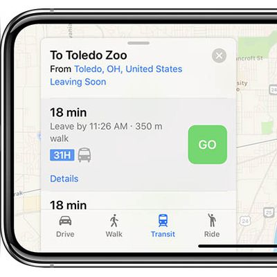 apple maps transit toledo