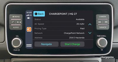 carplay chargepoint app view