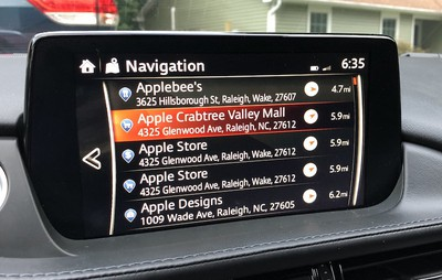 mazda connect nav results
