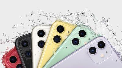 iphone 11 water splash