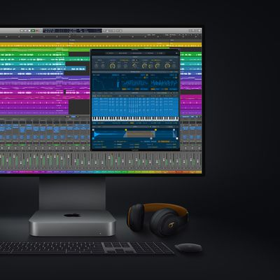new mac mini logicpro screen