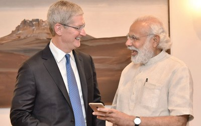 tim cook pm modi India