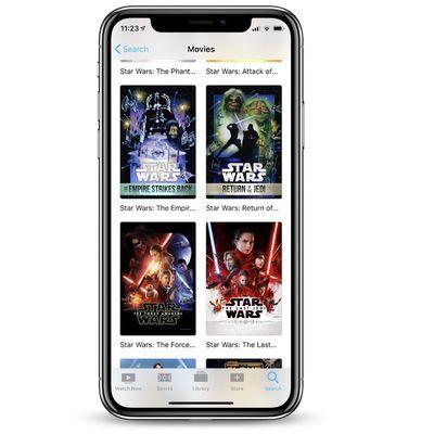 apple tv app star wars