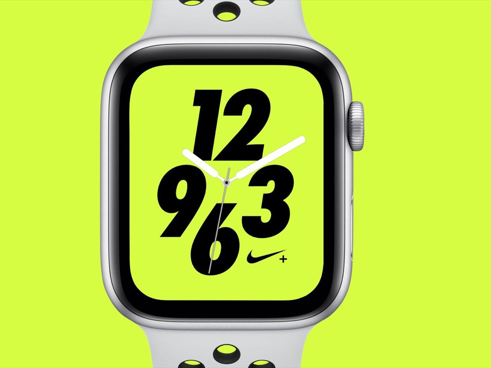 La ciudad Puntualidad podar  Apple Watch Series 4 Nike+ Models Have Slightly Later October 5 Launch Date  - MacRumors