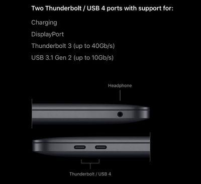 macbook pro thunderbolt 3 ports