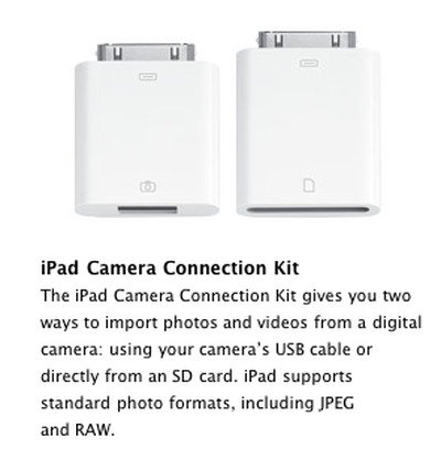 110740 ipad camera connection kit