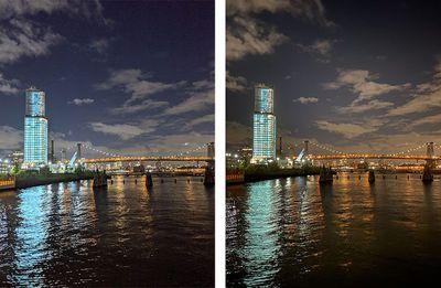 iphone 11 pro night mode comparison