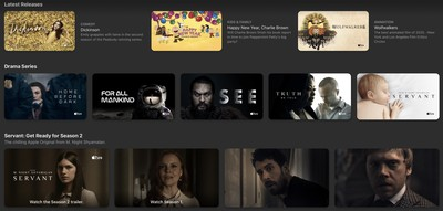 apple tv website redesign
