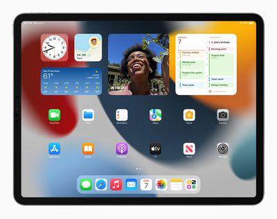 Apple iPadPro iPadOS15 springboard widgets 060721 big