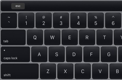 touch bar esc key