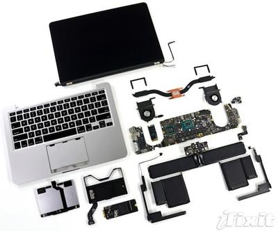 retina macbook pro 13 teardown